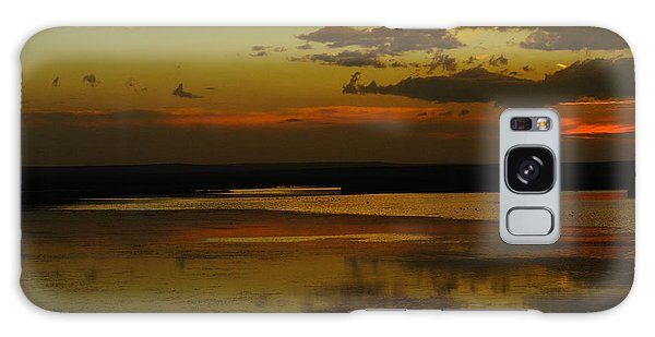 Sunset On Medicine Lake Galaxy Case