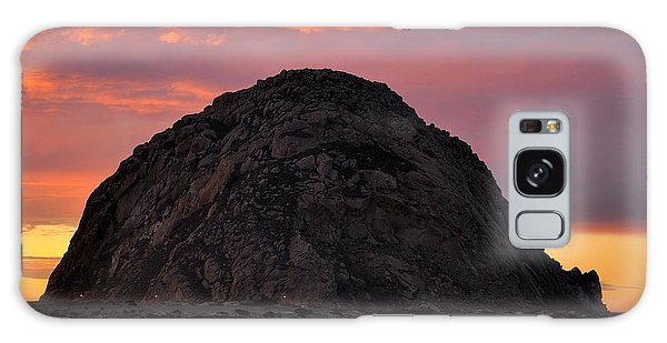 Sunset On Morro Rock Galaxy Case