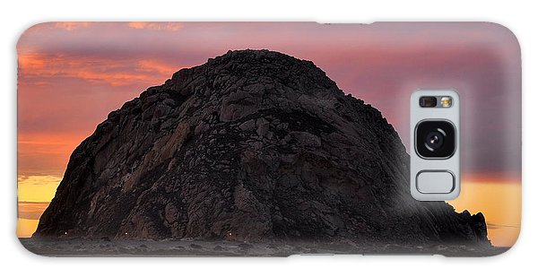 Sunset On Morro Rock Galaxy Case by AJ  Schibig