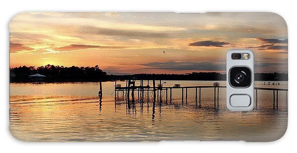 Sunset On Oyster Bay Galaxy Case