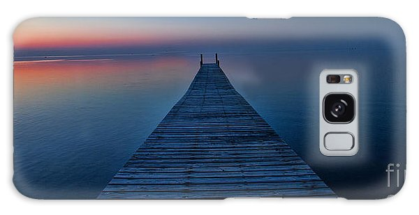 Sunset On Pamlico Sound Nc Galaxy Case by Laurinda Bowling