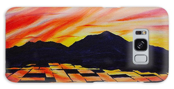 Sunset On Rice Fields Galaxy Case by Michele Myers