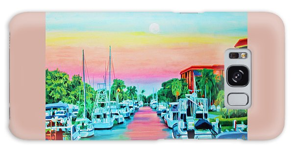 Galaxy Case featuring the painting Sunset On The Canal by Deborah Boyd