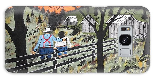 Sunset On The Fence Galaxy Case
