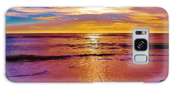 Sunset On The Gulf Galaxy Case by Judy Via-Wolff