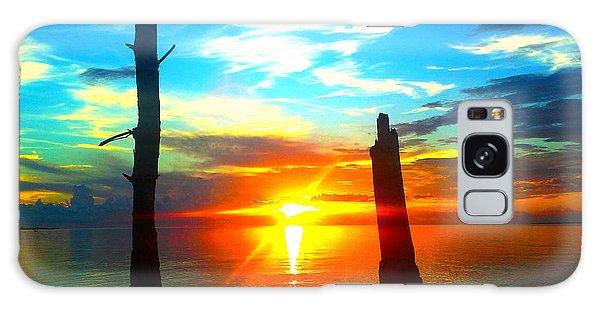 Sunset On The Island Galaxy Case