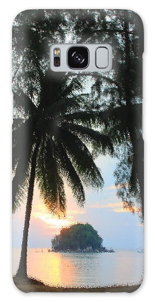 Sunset On The Island Of Tioman Galaxy Case by Sergey Lukashin