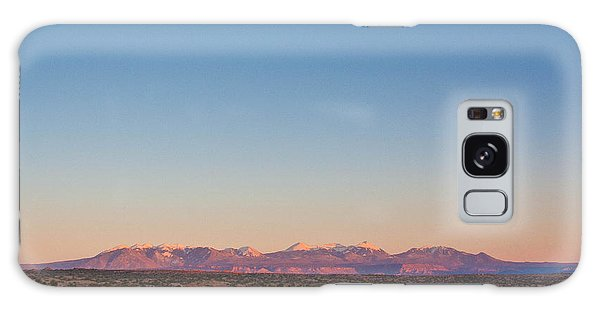 Sunset On The La Sal Mountains Galaxy Case