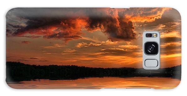 Sunset On The Lake Galaxy Case