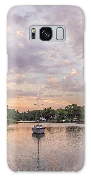 Sunset On The Magothy River Galaxy Case