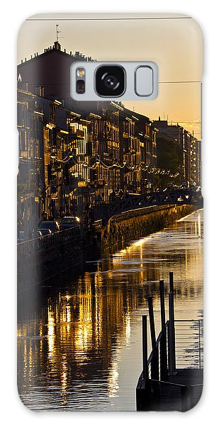 Sunset On The Navigli In Milan Galaxy Case
