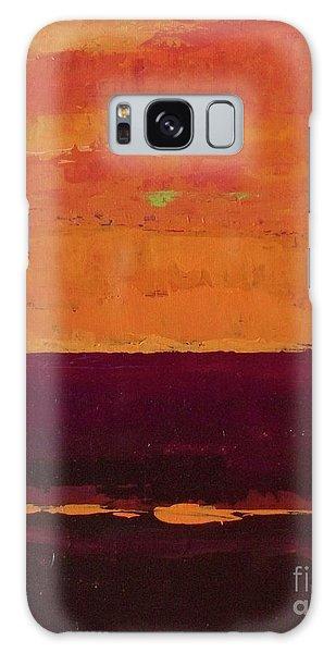 Sunset On The Pier Galaxy Case