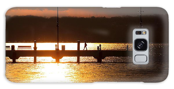 Sunset On The Pier Galaxy Case