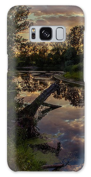 Sunset On The Quiet River Galaxy Case