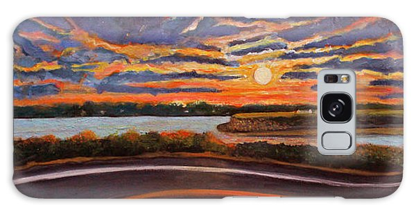 Sunset On The Road To Woods Hole Galaxy Case by Rita Brown