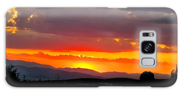 Sunset On The Road Galaxy Case
