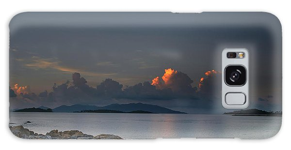 Sunset On The Sea Galaxy Case