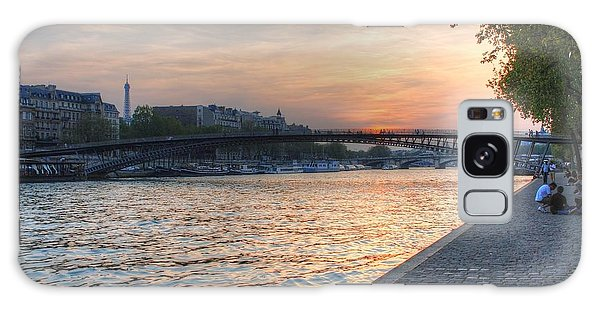 Sunset On The Seine Galaxy Case