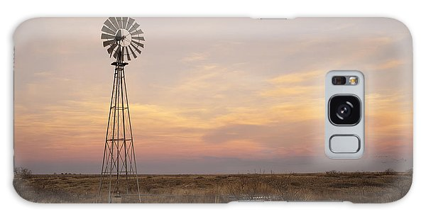 Sunset On The Texas Plains Galaxy Case