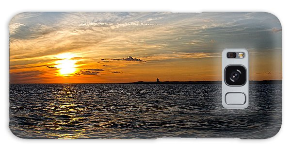 Sunset On The Water In Provincetown Galaxy Case by Eleanor Abramson
