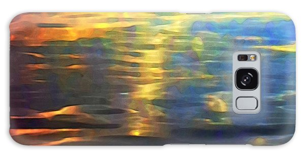 Sunset On Water Galaxy Case
