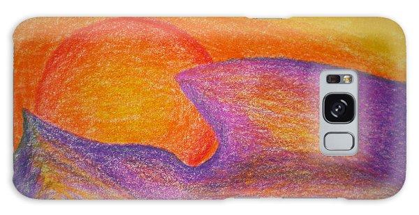 Sunset On Wavy Mountains Detail Of Sun Galaxy Case