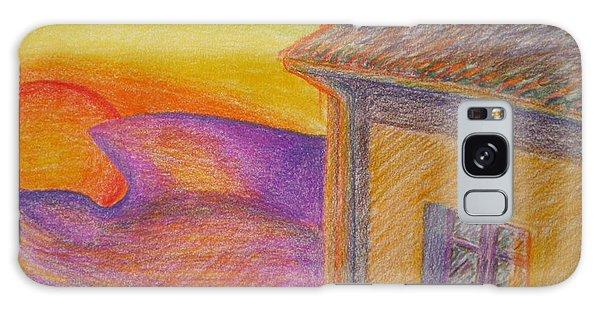 Sunset On Wavy Mountains Galaxy Case