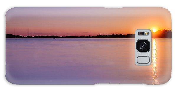 Sunset On White Bear Lake Galaxy Case