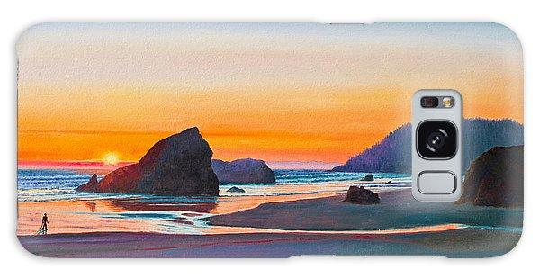 Beach Sunset Galaxy Case - Sunset - Oregon Coast by Paul Krapf