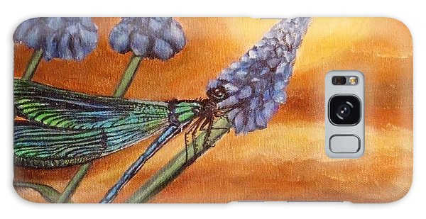 Summer Sunset Over A Dragonfly Galaxy Case by Kimberlee Baxter