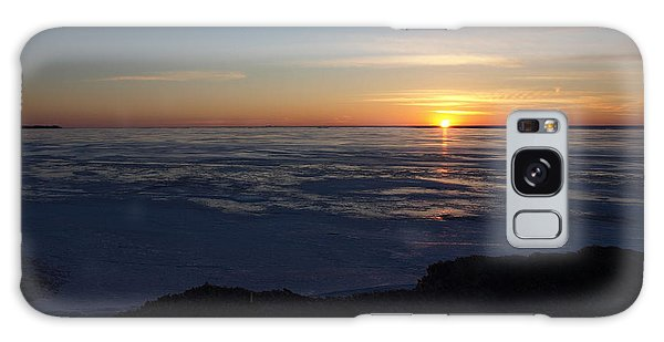 Sunset Over A Frozen Lake Erie - 1 Galaxy Case