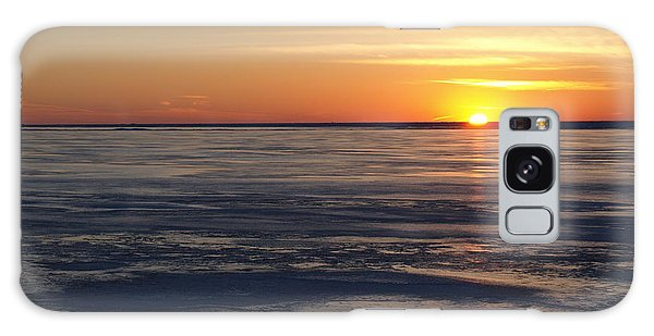 Sunset Over A Frozen Lake Erie - 2 Galaxy Case
