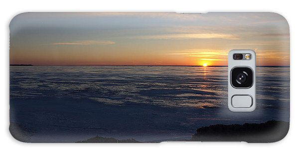 Sunset Over A Frozen Lake Erie - 4 Galaxy Case