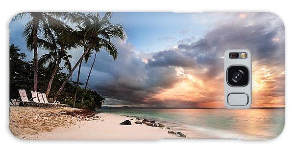 Sunset Over Bacardi Island Galaxy Case by Mihai Andritoiu