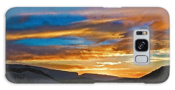 Galaxy Case featuring the photograph Sunset Over Big Bend by Mae Wertz
