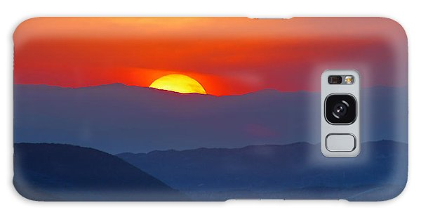 Sunset Over California Galaxy Case