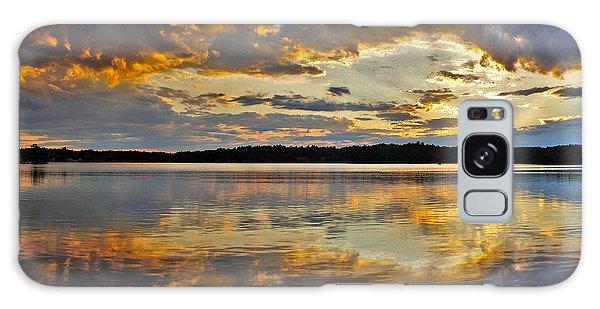 Sunset Over Canobie Lake Galaxy Case