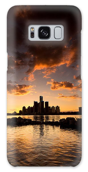 Motor City Galaxy Case - Sunset Over Detroit by Cale Best