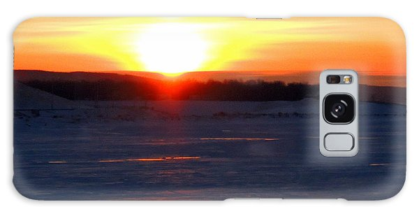 Sunset Over Devils Lake Galaxy Case