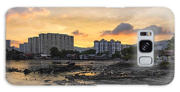 Sunset Over Georgetown Penang Malaysia Galaxy Case by Jit Lim