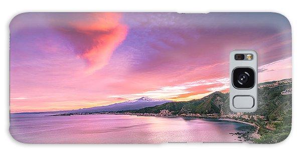 Sunset Over Giardini Naxos Galaxy Case