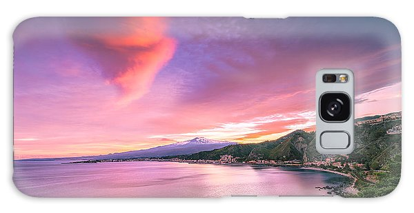 Galaxy Case featuring the photograph Sunset Over Giardini Naxos by Mirko Chessari