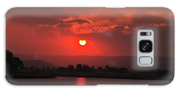 Sunset Over Hope Island Galaxy Case