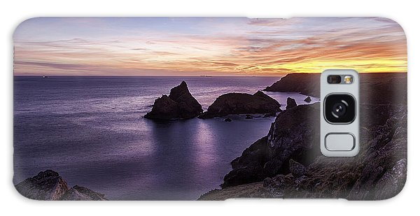 Sunset Over Kynance Cove Galaxy Case