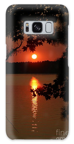 Sunset Over Lake Galaxy Case by D Wallace
