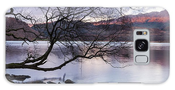 Sunset Over Lake Dinas Galaxy Case by Trevor Chriss