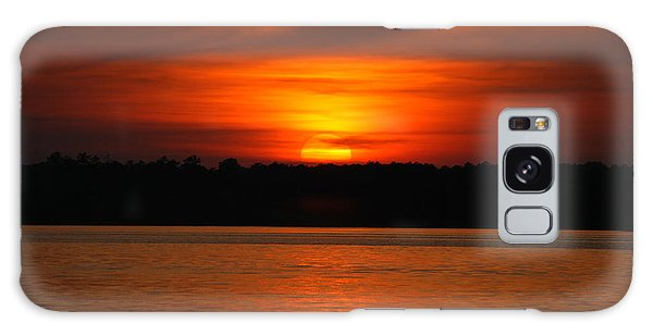 Sunset Over Lake Martin Galaxy Case by Donald Williams
