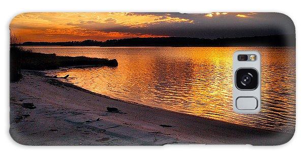Sunset Over Little Assawoman Bay Galaxy Case