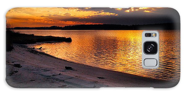 Sunset Over Little Assawoman Bay Galaxy Case