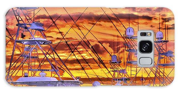 Sunset Over Marina Galaxy Case